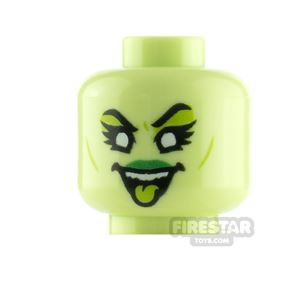 LEGO Minifigure Heads Eyeshadow and Tongue out