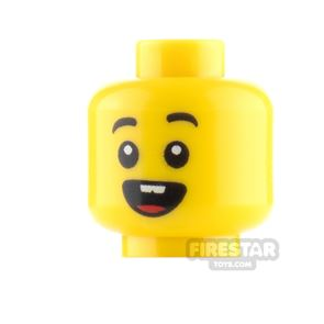 LEGO Minifigure Heads Open Mouth Smile and Surprised