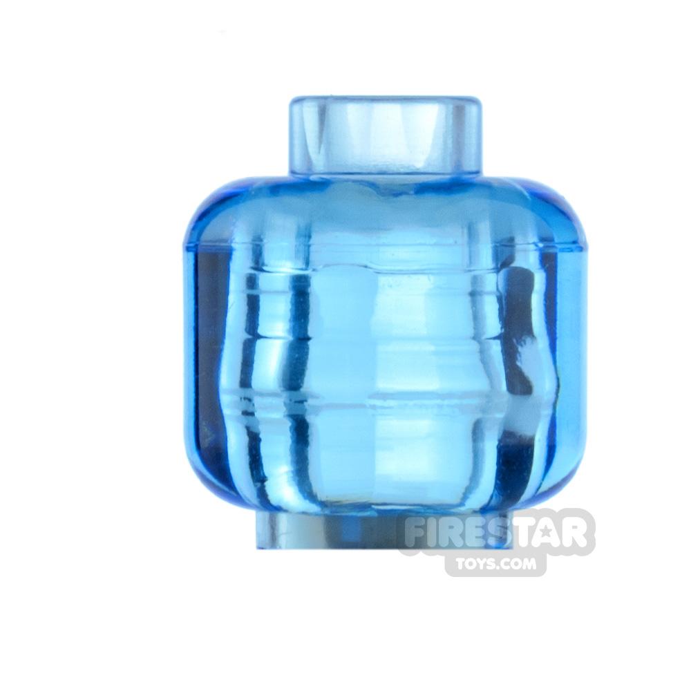 LEGO Minifigure Heads Plain Trans Medium Blue