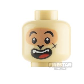 LEGO Minifigure Heads Smile and Licking Lips