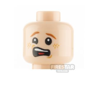 LEGO Minifigure Head Scared and Small Mouth