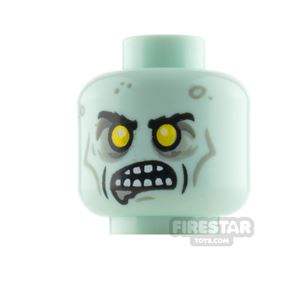 LEGO Minifigure Heads Zombie with Yellow Eyes