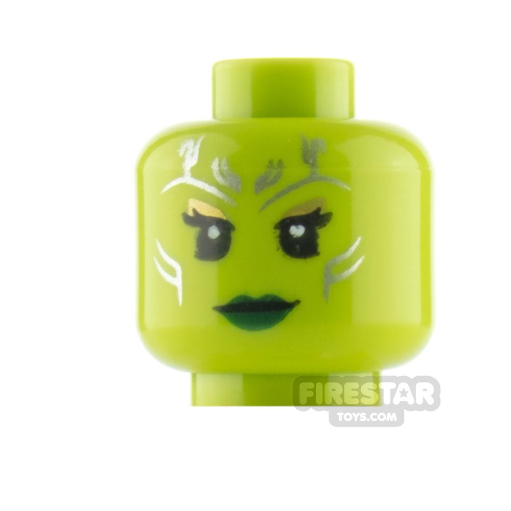 LEGO Minifigure Heads Gamora Angry and Stern