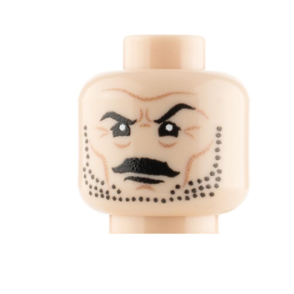 Custom Minifigure Head Stubble and Moustache