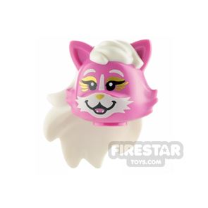 LEGO Minifigure Head Cat with White Hair