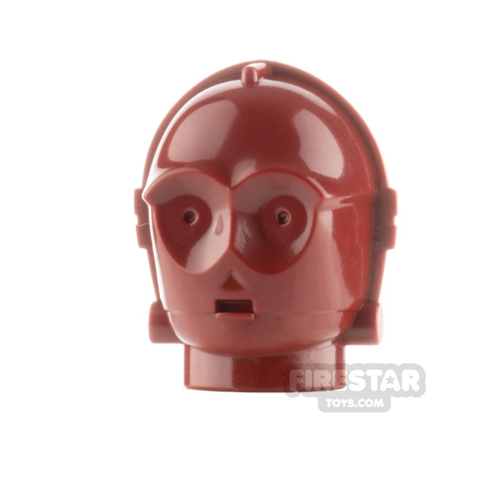 LEGO Minifigure Head TC-4 Protocol Droid Unprinted
