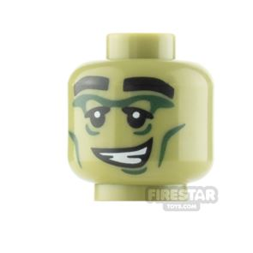 LEGO Minifigure Head Crooked Smile with Teeth