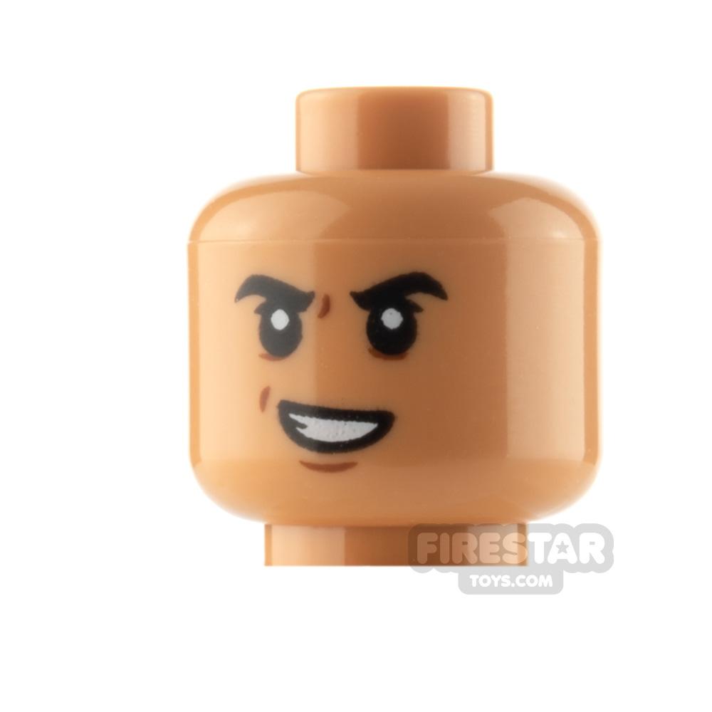 LEGO Minifigure Head Evil Smile and Scared