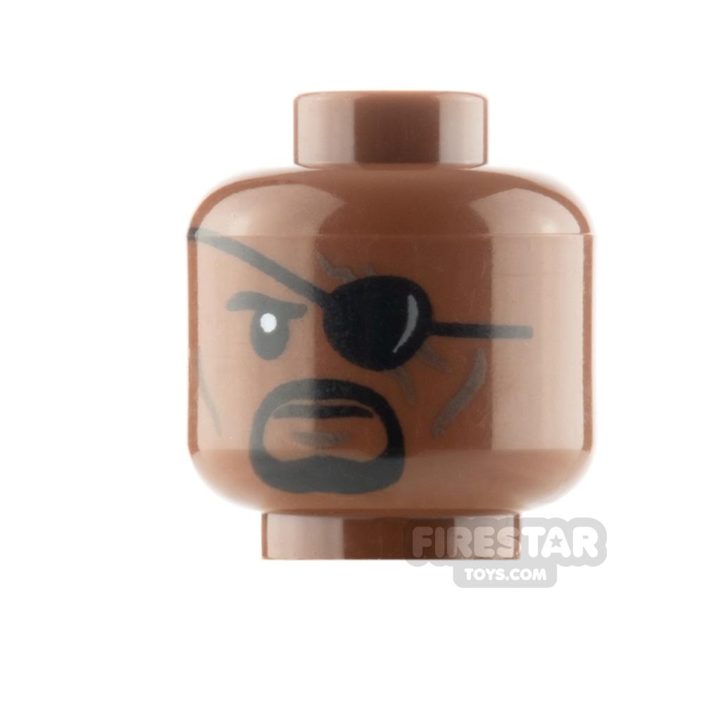 LEGO Minifigure Head Eyepatch and Black Goatee
