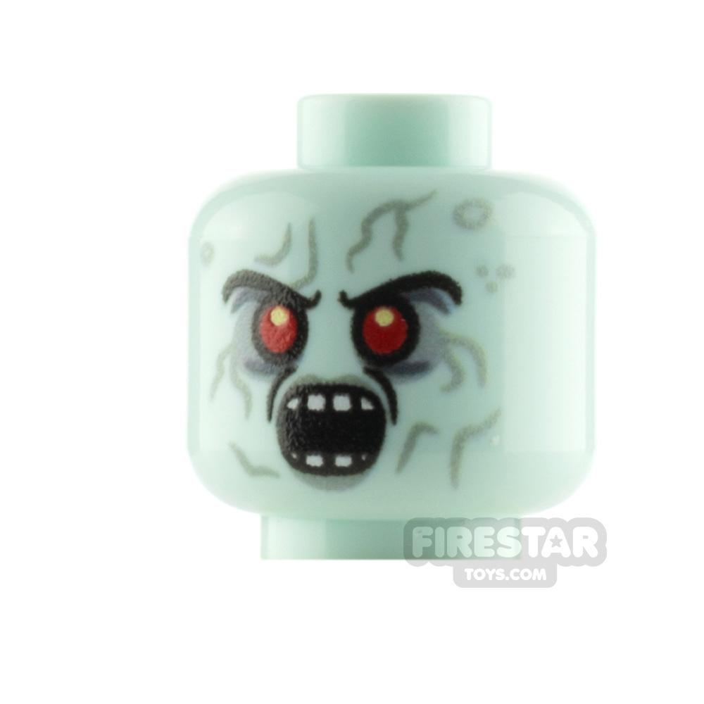 Custom Minifigure Head Zombie Witch