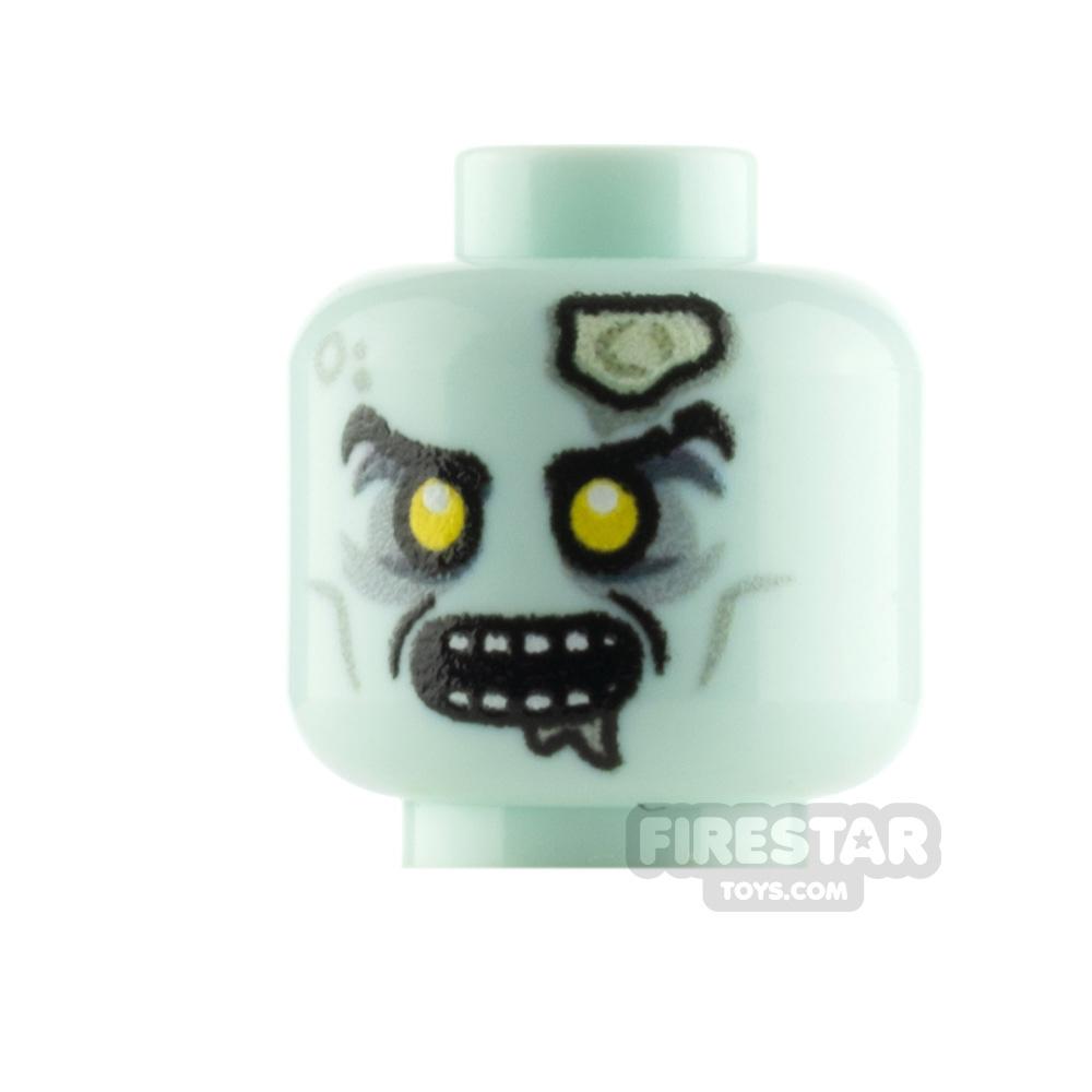 Custom Minifigure Head Zombie Archer