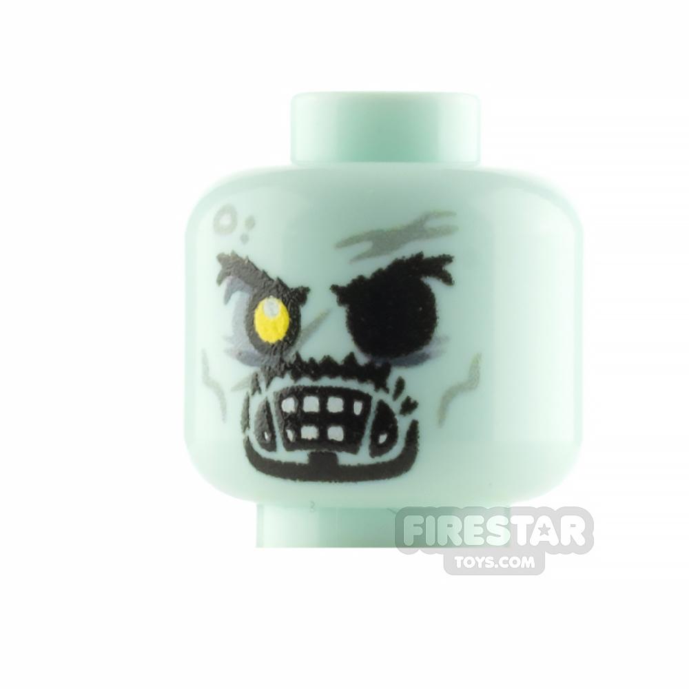 Custom Minifigure Head Zombie Sorcerer