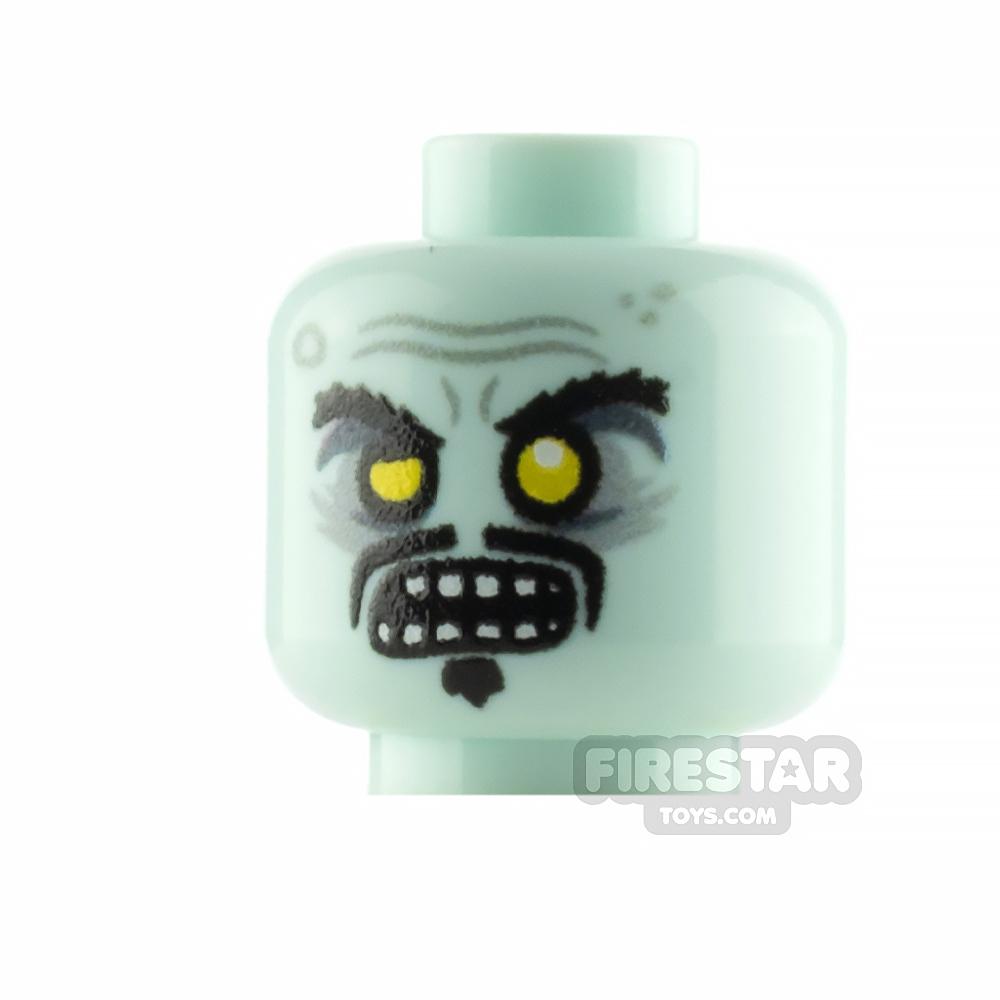 Custom Minifigure Head Zombie Librarian