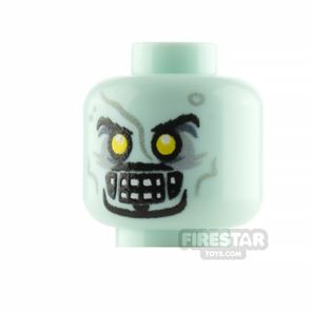 Custom Minifigure Head Zombie Entrepreneur