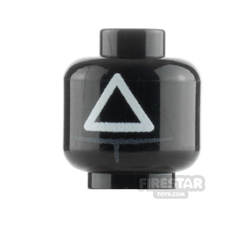 Custom Minifigure Head Game Marshall Triangle