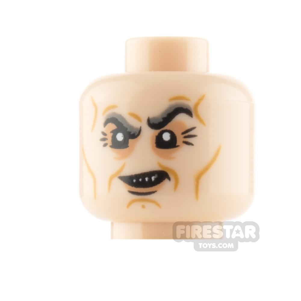 LEGO Minifigure Head Goblin Grin and Scowl