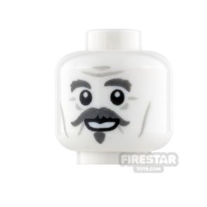 LEGO Mini Figure Heads - Moustache with Grin and Worried