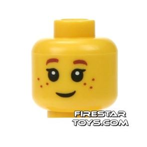LEGO Mini Figure Heads - Big Eyes and Freckles