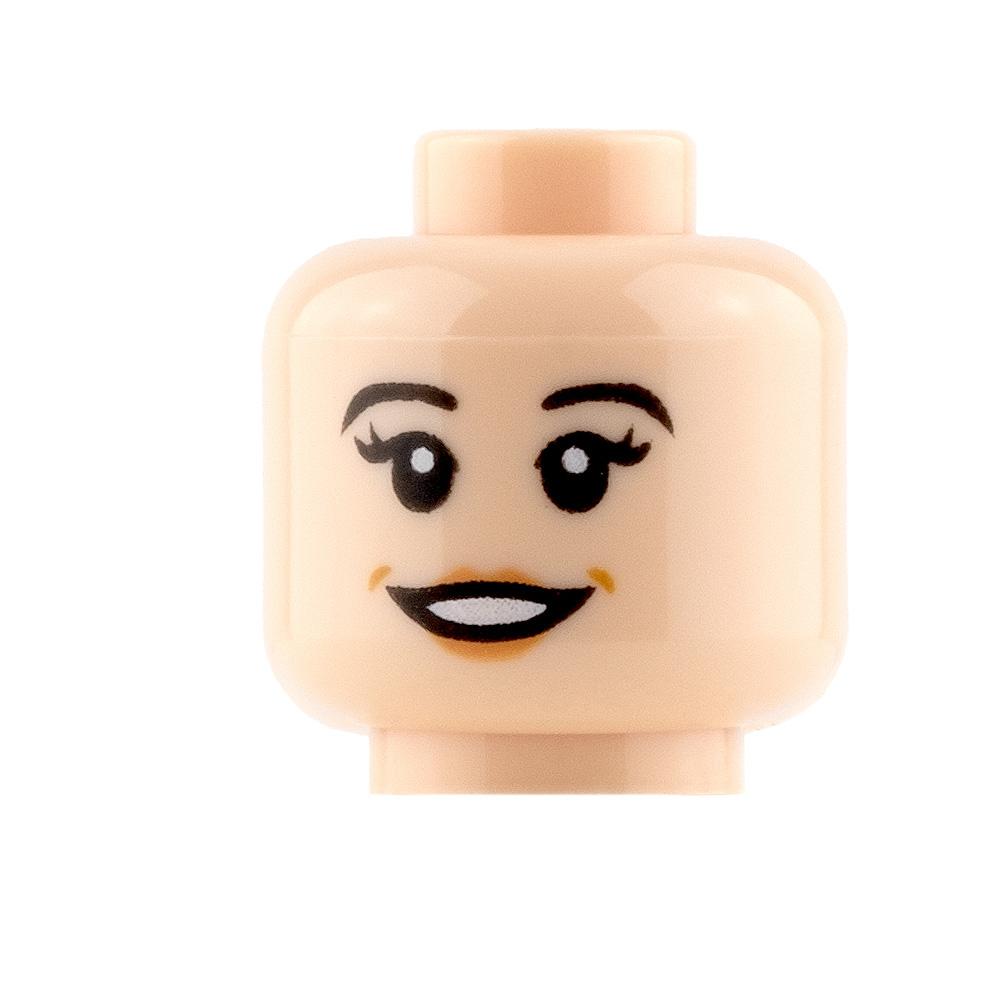 LEGO Mini Figure Heads - Peach Lips - Open Smile and Closed Mouth