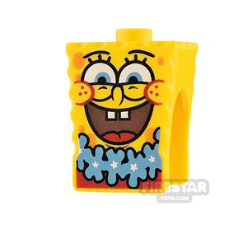 LEGO Mini Figure Heads - SpongeBob SquarePants - Blue Lei