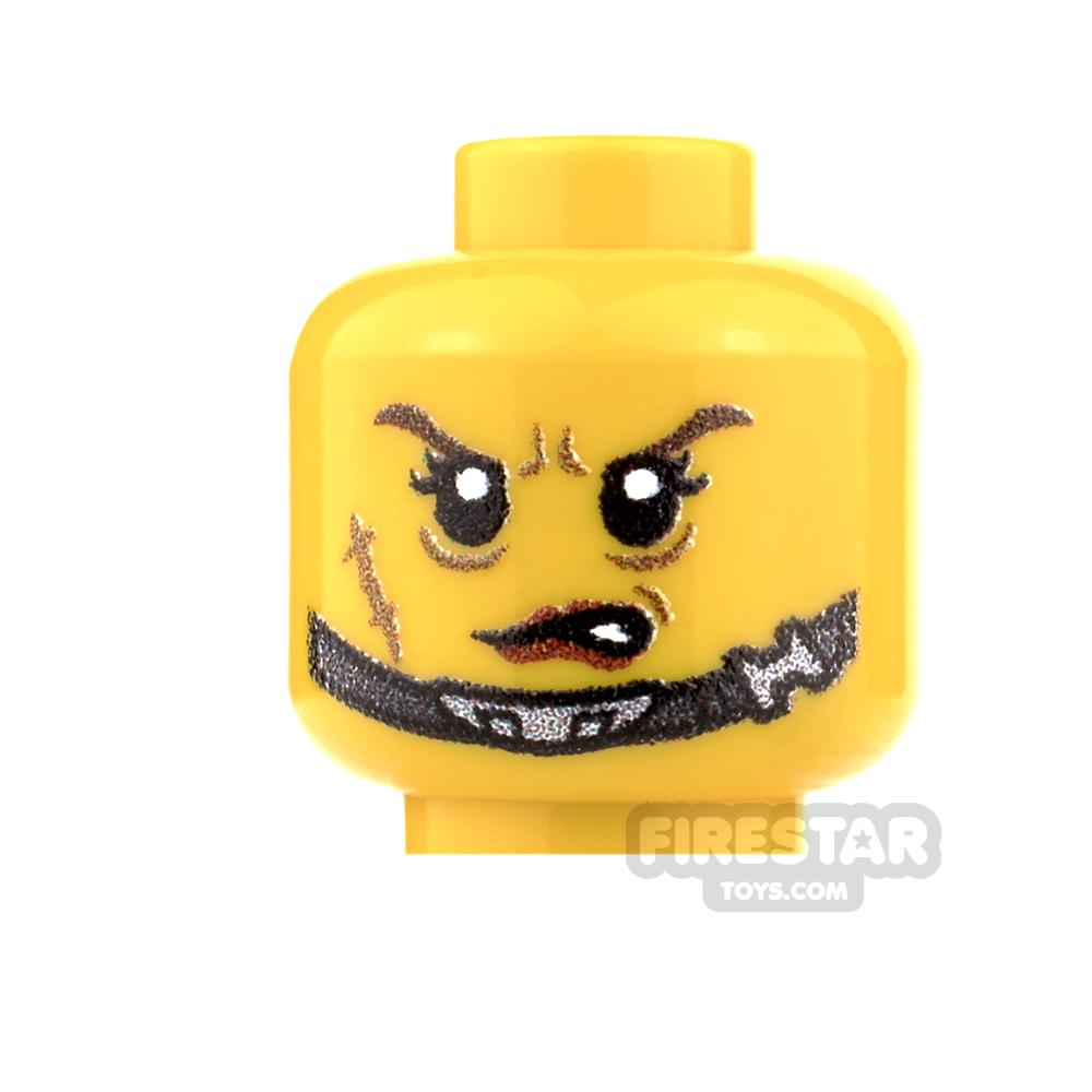 Custom Minifigure Heads - Veteran Trooper - Female - Yellow