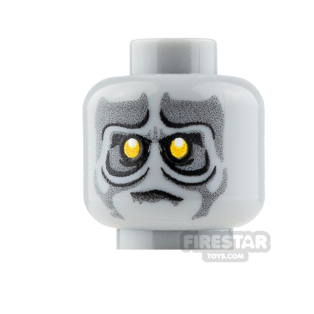 Custom Mini Figure Heads - Yellow eyed Zombie