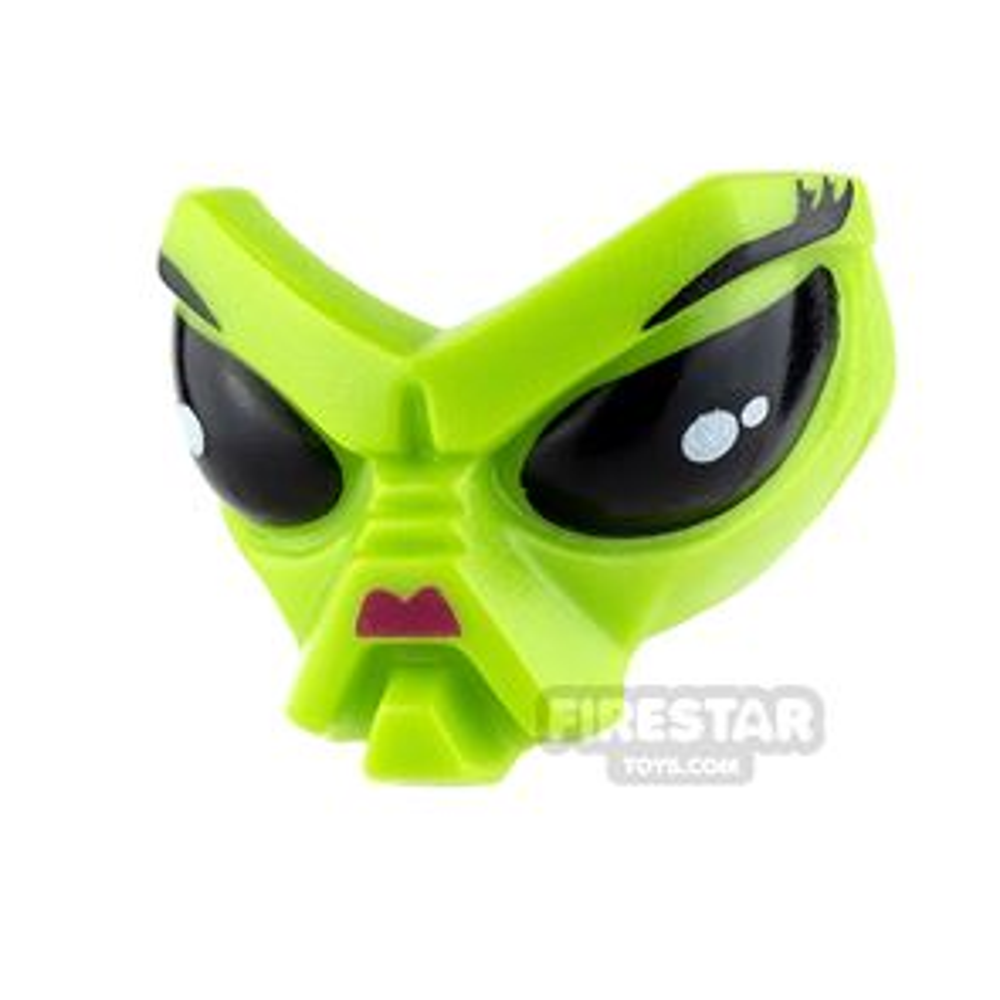 LEGO Mini Figure Heads - Alien Head - Magenta Nose
