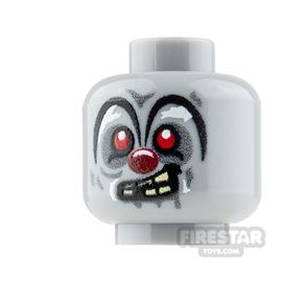 Custom Mini Figure Heads - Clown Zombie