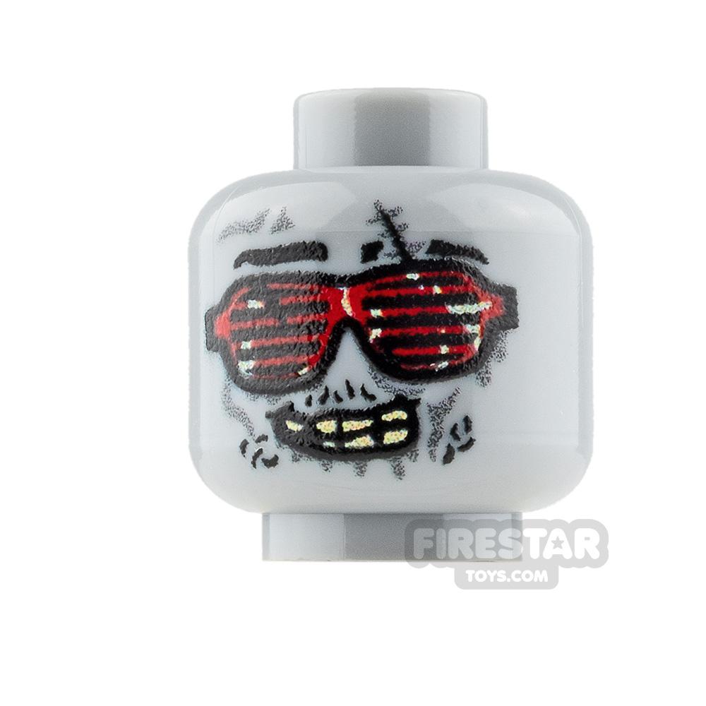 Custom Mini Figure Heads - 80s Sunglasses Zombie