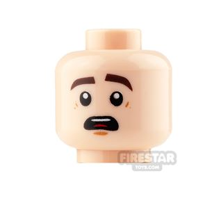 LEGO Mini Figure Heads - Open Mouth Smile and Nervous