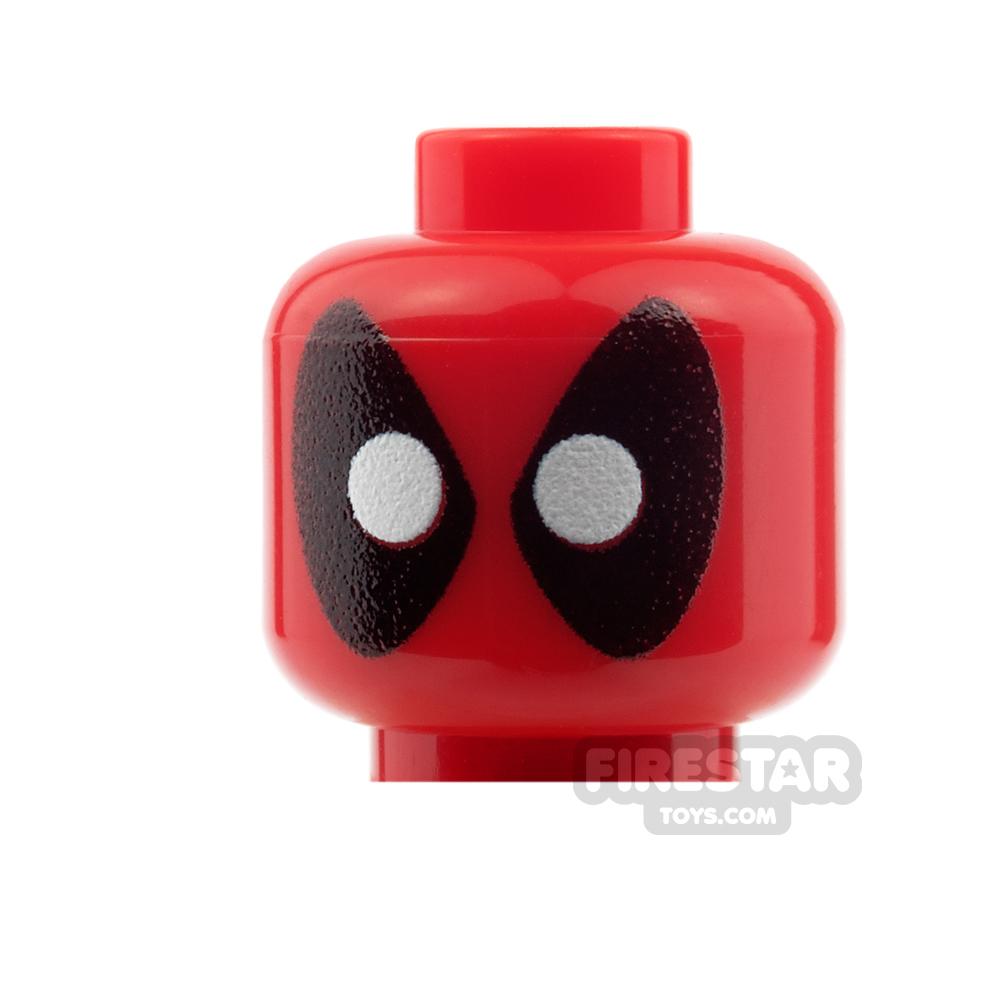 Custom Mini Figure Heads - Deadpool - Round Eyes