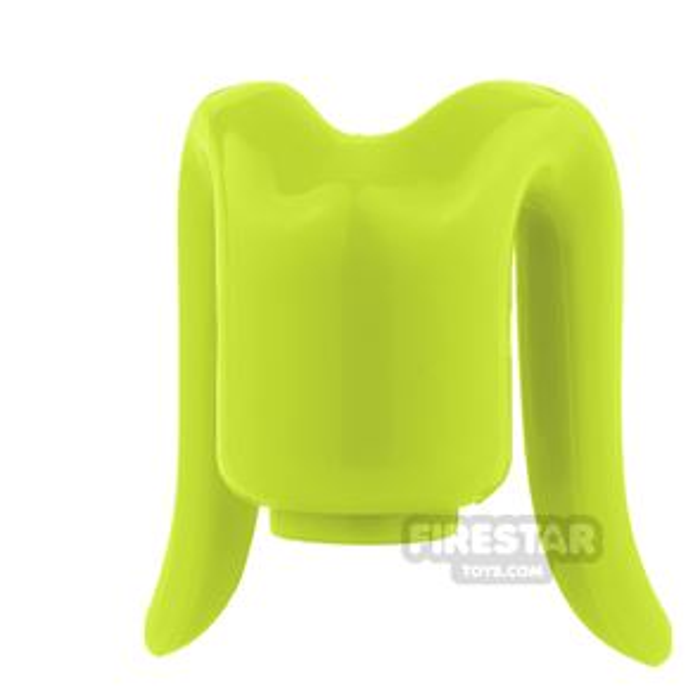 Arealight Mini Figure Heads - Monochrome Lime - Plain