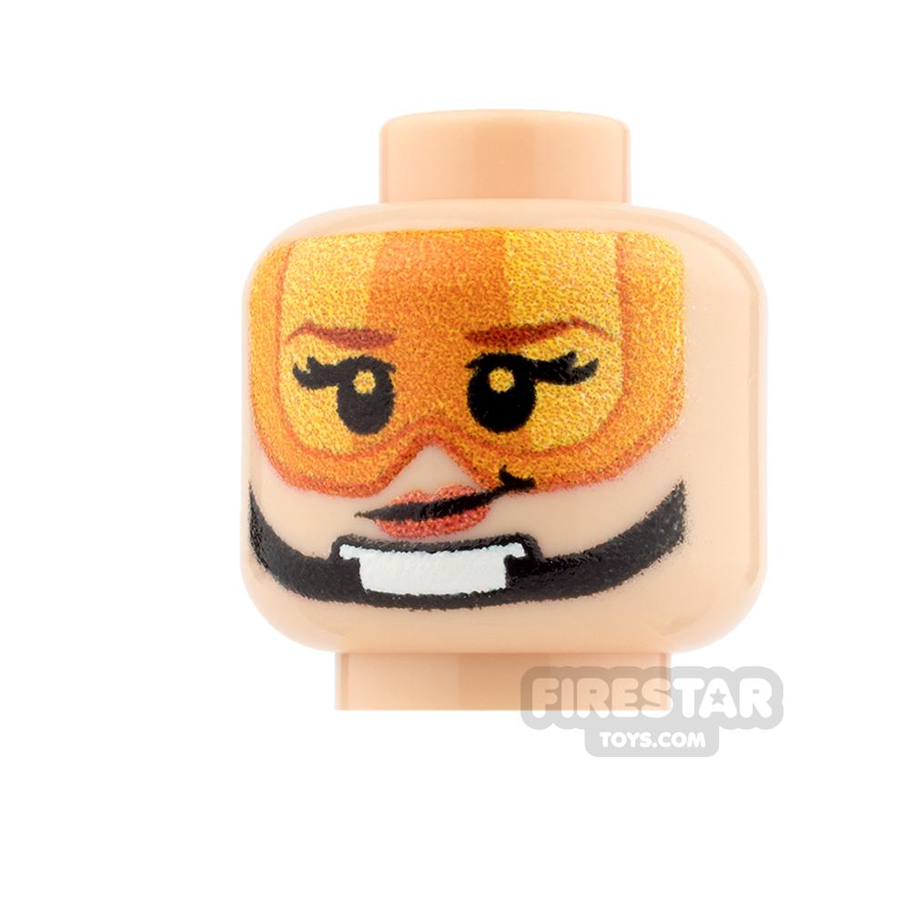 Custom Minifigure Heads - SW Rebel Pilot - Female - Light Flesh