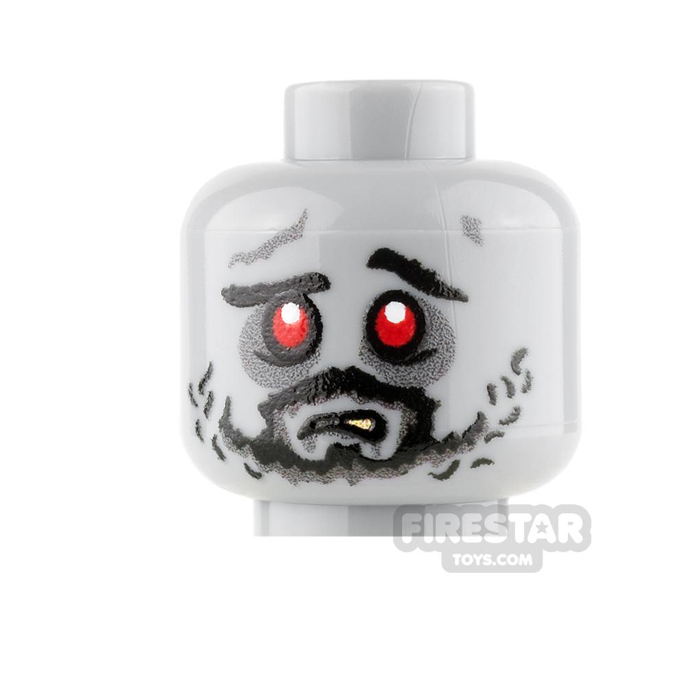 Custom Mini Figure Heads - Scruffy Zombie