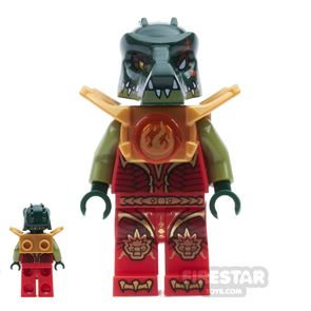 LEGO Legends of Chima Mini Figure - Cragger - Fire Chi Armour