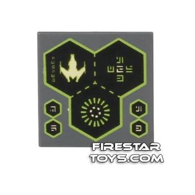 Printed Tile 2x2 - Spaceship Screens