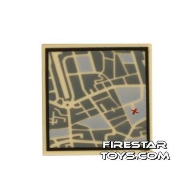 Printed Tile 2x2 - Street Map