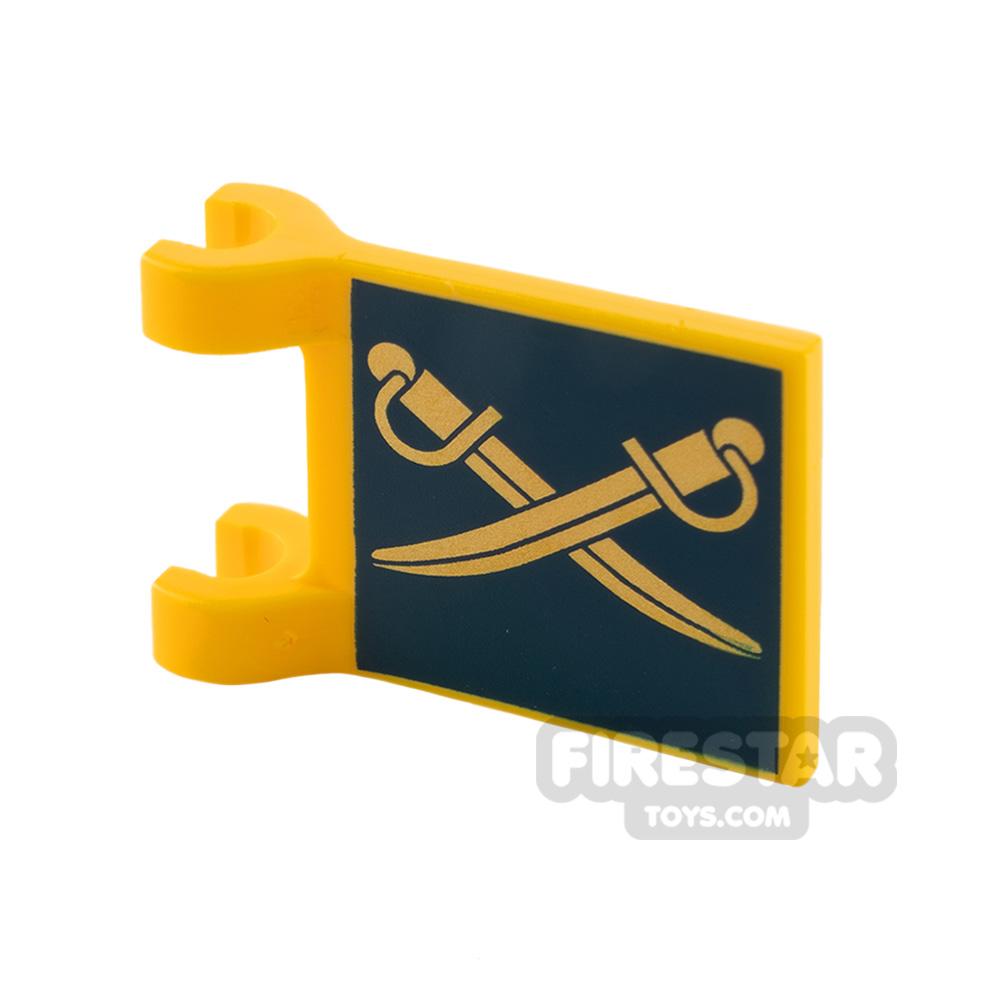 Printed Flag - Gold Cutlasses