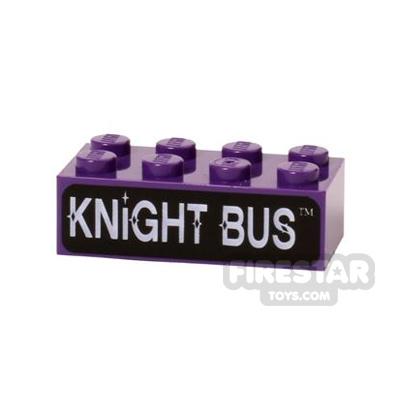Printed Brick 2x4 Knight Bus
