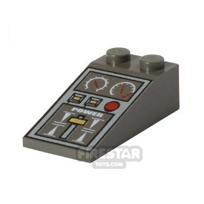 Printed Slope 2x4x1 18° - Train Controls