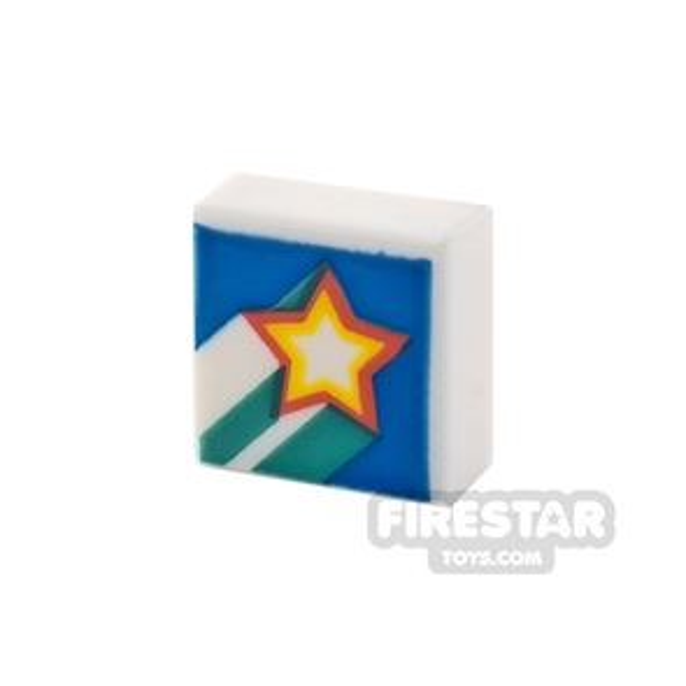 Printed Tile 1x1 Rising Star