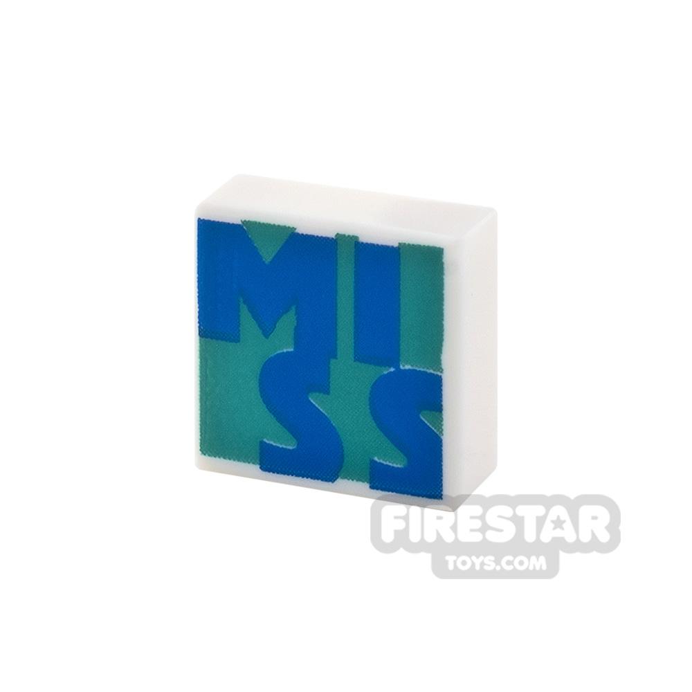 Printed Tile 1x1 Miss
