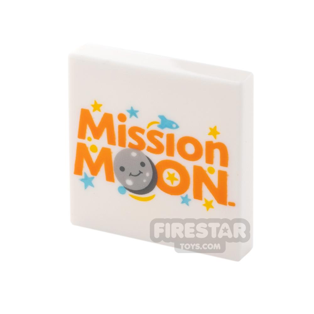 Printed Tile 2x2 Mission Moon