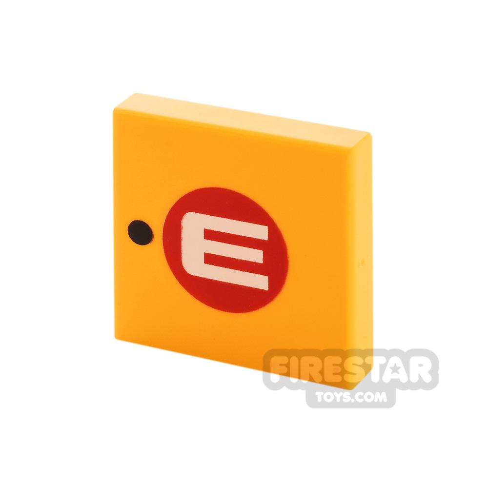 Printed Tile 2x2 WALL-E Logo