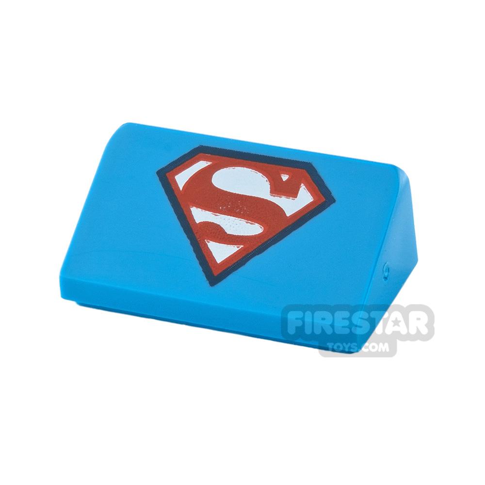 Printed Slope 1x2x2/3 Superman Logo