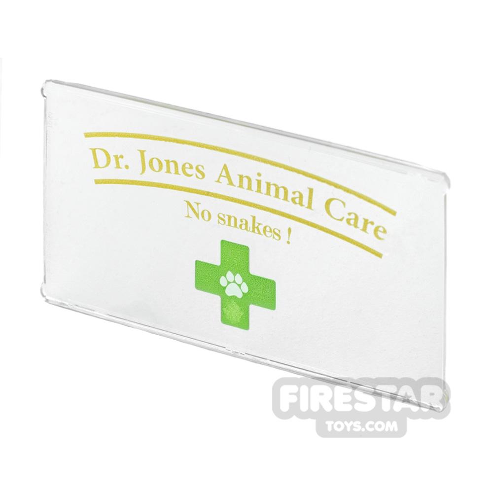 Printed Window Glass 1x4x6 Animal Care