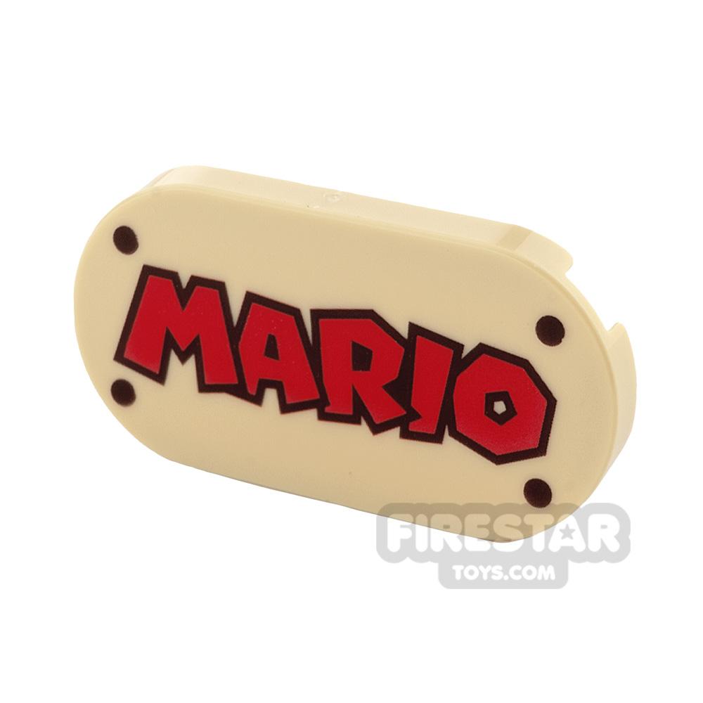 Printed Oval Tile 2x4 Mario