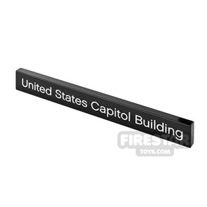 Printed Tile 1x8 United States Capitol Building