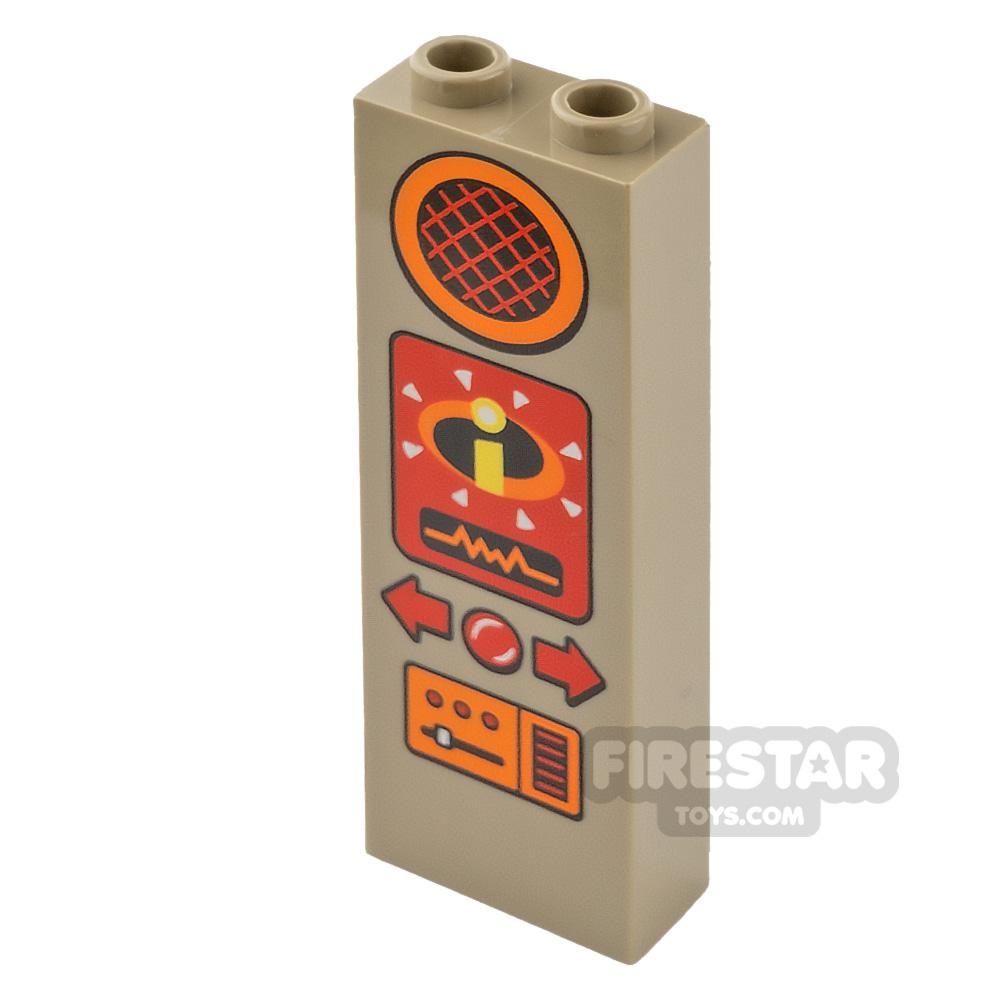 Printed Brick 1x2x5 Speaker with Incredibles Logo