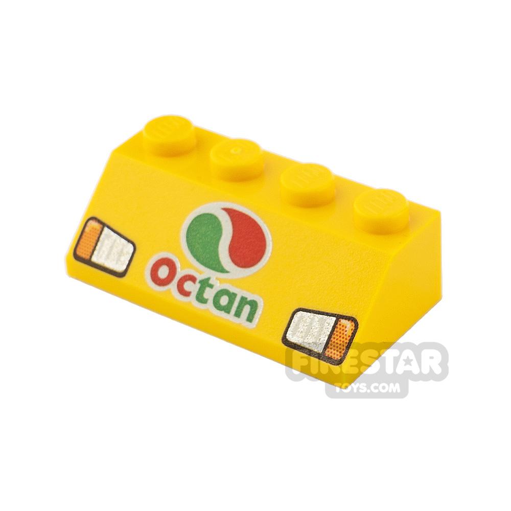 Printed Slope 45 2x4 Octan Logo and Headlights